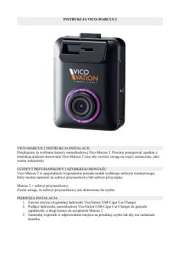 Instrukcja obsługi kamery Vico Marcus 2