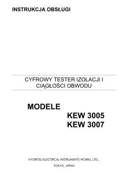 MODELE KEW 3005 KEW 3007