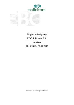 EBC Solicitors - raport miesięczny