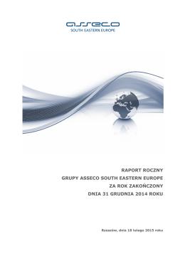 Grupa Asseco SEE - Sprawozdanie Zarządu z Działalności Grupy