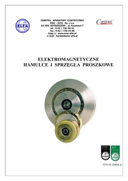 elektromagnetyczne hamulce i sprzęgła proszkowe