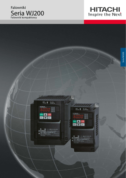Hitachi - Brochure Inverter WJ200 - Hitachi Industrial Components
