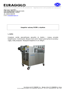 Kompaktor walcowy B100R z młynkiem