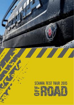 Specyfikacje pojazdów Scania Test Tour 2015