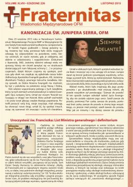 KANONIZACJA ŚW. JUNIPERA SERRA, OFM