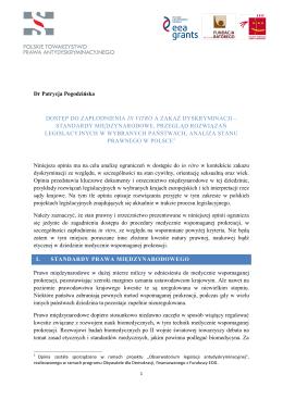 Dostęp do zapłodnienia in vitro a zakaz dyskryminacji