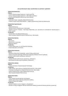 Lista punktowanych miejsc i przedmiotów