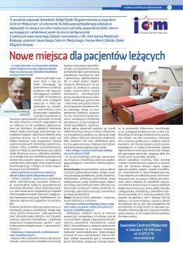 Nowe miejsca dla pacjentów leżących