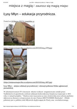 Łysy Młyn – edukacja przyrodnicza. miejsca z magią