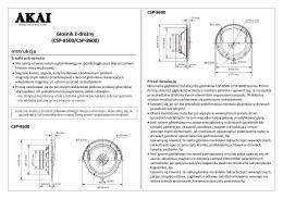 Głośnik 2-drożny (CSP-8500/CSP-8600) Instrukcja