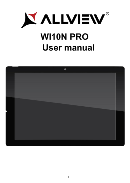 User manual WI10N PRO