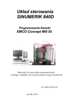 Układ sterowania SINUMERIK 840D (Programowanie frezarki