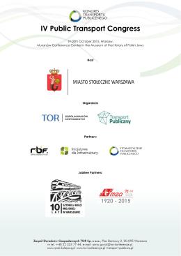 IV Public Transport Congress - iv kongres transportu publicznego