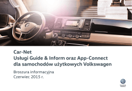 Car-Net App-Connect - Volkswagen samochody użytkowe. VW