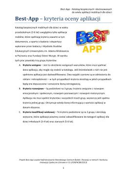 Best-App – kryteria oceny aplikacji