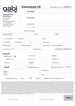 Formularz CD - gabi optical disc