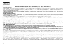 Umowy jednorazowe Atlas Copco Polska