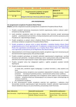 OPIS POSTĘPOWANIA - Urząd Miasta Płock