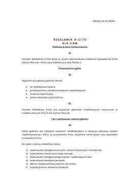 REGULAMIN R–CITO