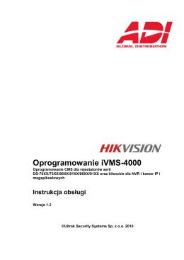 Oprogramowanie iVMS-4000