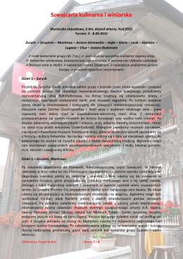 Szwajcaria kulinarna i winiarska