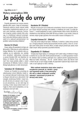 Ja pójd´ do urny - kurier.malbork.pl