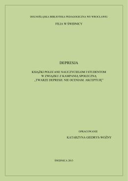 DEPRESJA - Dolnośląska Biblioteka Pedagogiczna