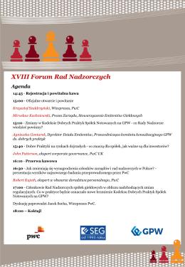 XVIII Forum Rad Nadzorczych