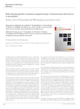 Rola ultrasonografii i rezonansu magnetycznego w obrazowaniu