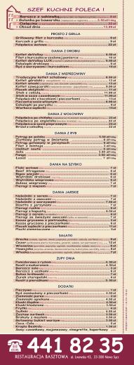 441 82 35 - Restauracja Basztowa