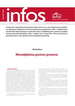 """INFOS. Zagadnienia społeczno"