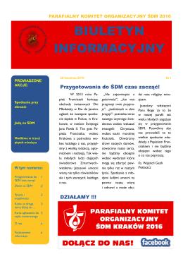 BIULETYN INFORMACYJNY - Parafia Wola Batorska