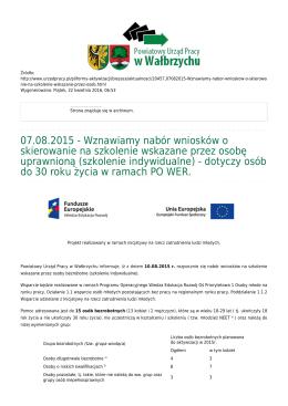 Generuj PDF - Powiatowy Urząd Pracy w Wałbrzychu