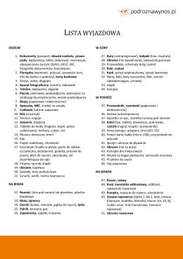 Lista wyjazdowa PDF