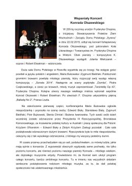 Konrad Olszewski – Piano Concert
