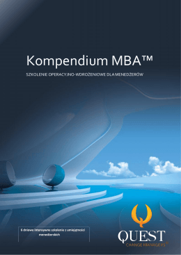 Kompendium MBA™ - Quest Change Managers