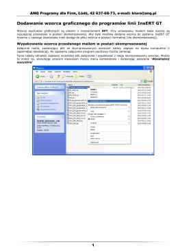 Instrukcja dodawania wzorca wydruku do systemu InsERT GT