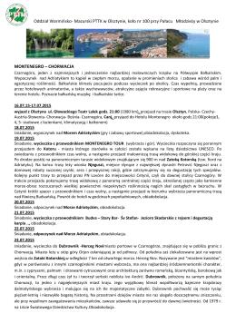 Oddział Warmiosko- Mazurski PTTK w Olsztynie, koło nr 100 przy