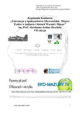 Regulamin Konkursu - Mrągowska Spółdzielnia Socjalna PROFIT