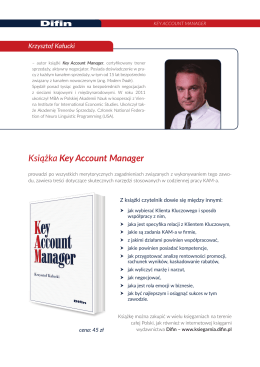 Książka Key Account Manager