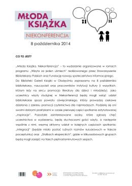 """""""Młoda Książka. Niekonferencja"""" – to wydarzenie"""