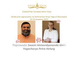 Swami Atmavidyananda Giri i Yogacharya Petra Helwig