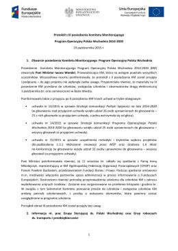 Protokół z III posiedzenia KM POPW