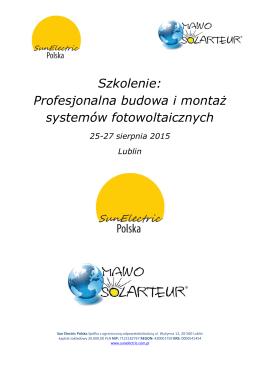 szkolenia Fotowoltaika - Inkubator Przedsiębiorczości
