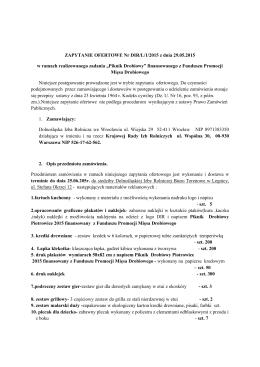 ZAPYTANIE OFERTOWE Nr DIR/L/1/2015 z dnia 29.05.2015 w
