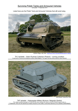 Surviving Polish Tanks and Armoured Vehicles