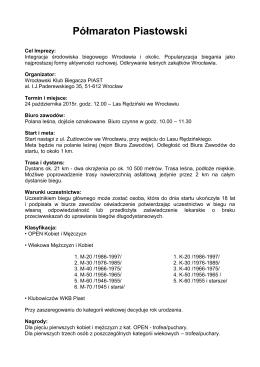 Półmaraton Piastowski - 24.10.2015