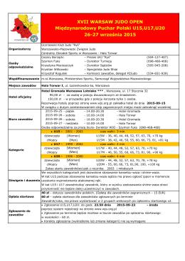 Wersja polska (obowiązująca zawodników z Polski)