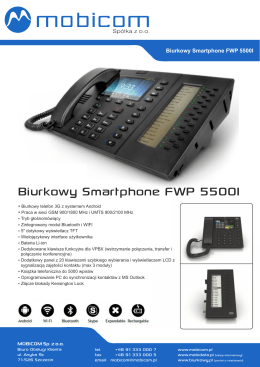 Biurkowy Smartphone FWP 5500I