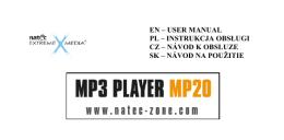 Natec MP20 - user manual